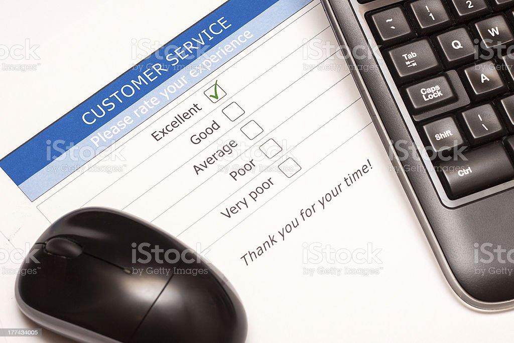 Online customer service satisfaction survey royalty-free stock photo
