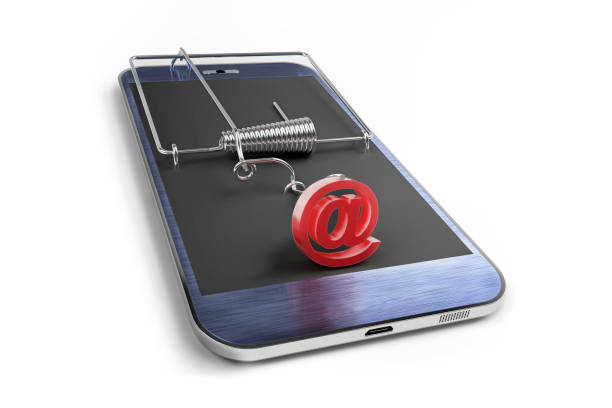 online cyber crime stock photo