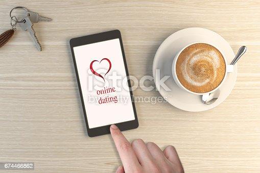 istock Online Dating App On Smartphone 674466862