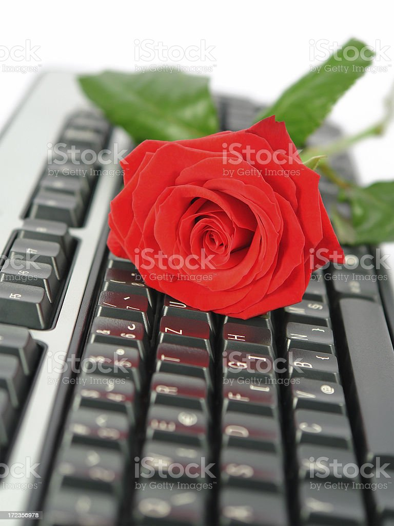 On-line dating royalty-free stock photo