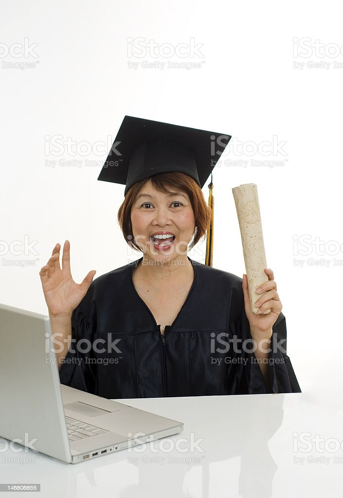 On-line education royalty-free stock photo
