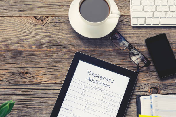 online employment or job application form. - apply online stock photos and pictures