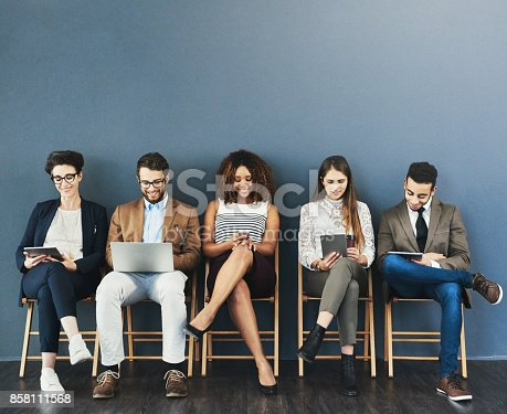 istock Online entertainment is how they handle their pre-interview nerves 858111568