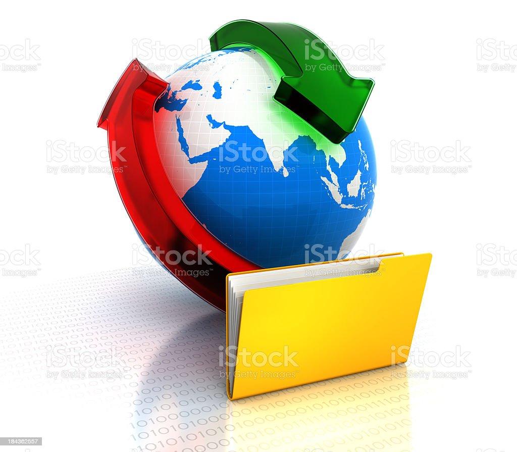 Online exchange royalty-free stock photo