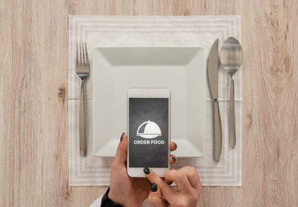 online matbeställning - on demand bildbanksfoton och bilder