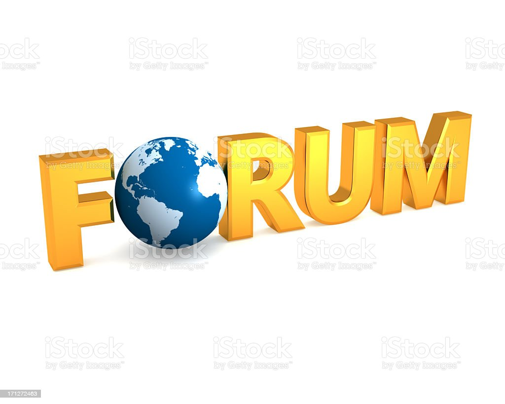 Online forum and globe concept royalty-free stock photo