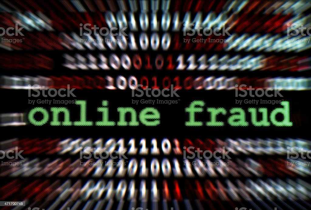 Online fraud royalty-free stock photo