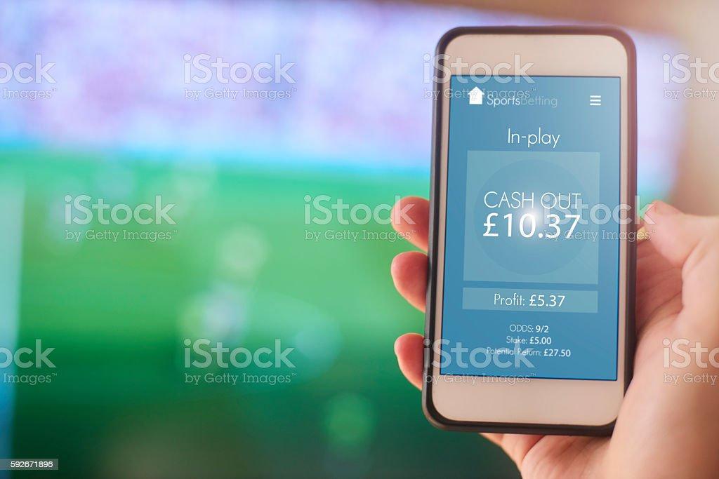 Online gambling stock photo