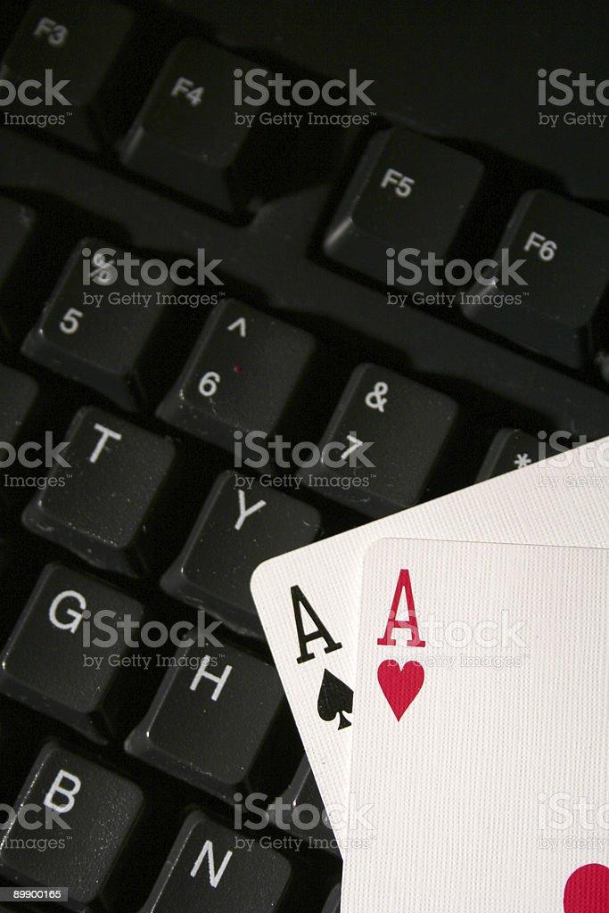 Juegos en línea foto de stock libre de derechos