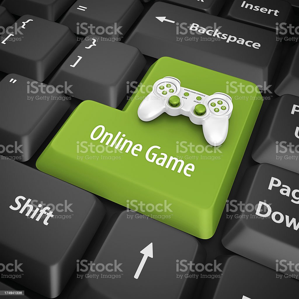 online game enter key royalty-free stock photo