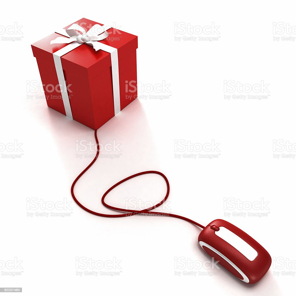Online gift shopping royalty-free stock photo