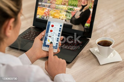 1184048369 istock photo Online Greengrocer Shopping 1230603730