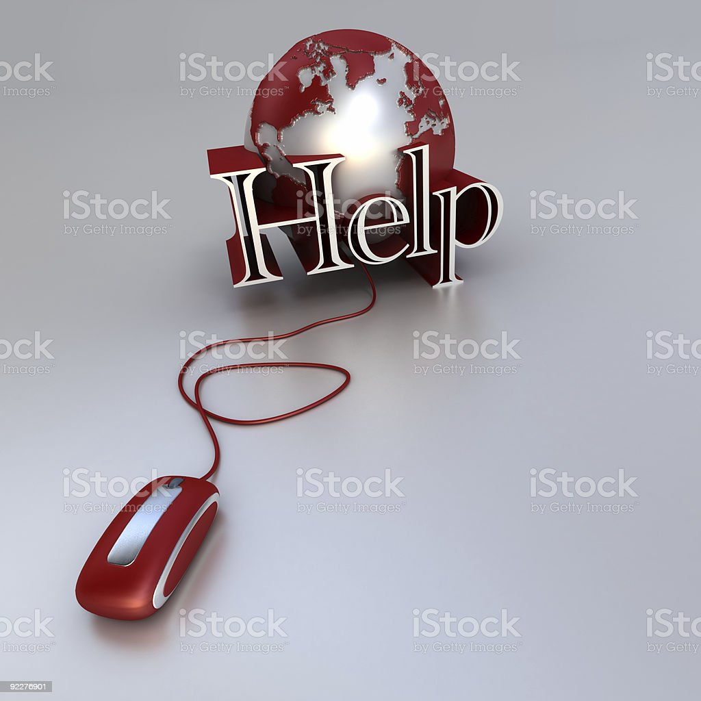 Online Help royalty-free stock photo