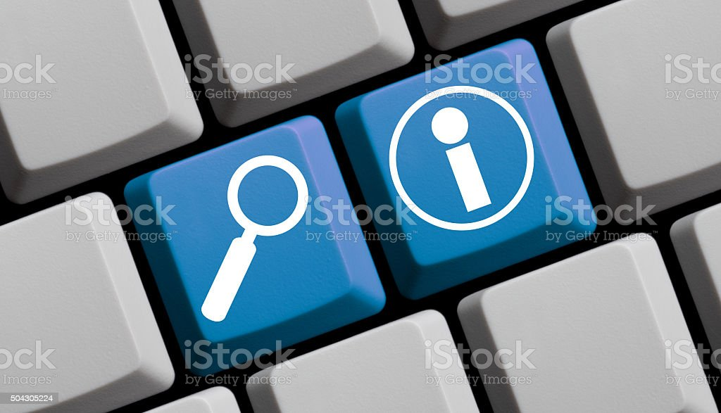 Online Information stock photo