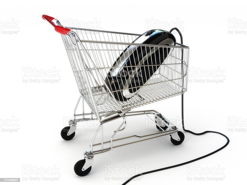 Online internet shopping royalty-free stock photo