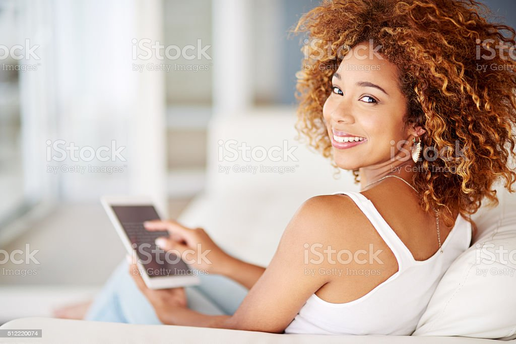 Online is the best way to spend me time stock photo