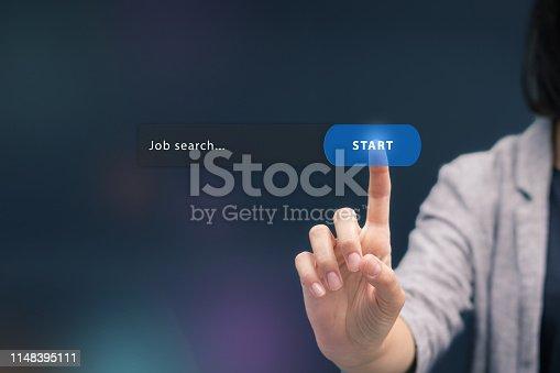 istock Online job search. 1148395111