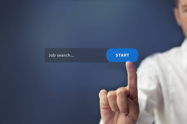 online job search. - job search stock photos and pictures