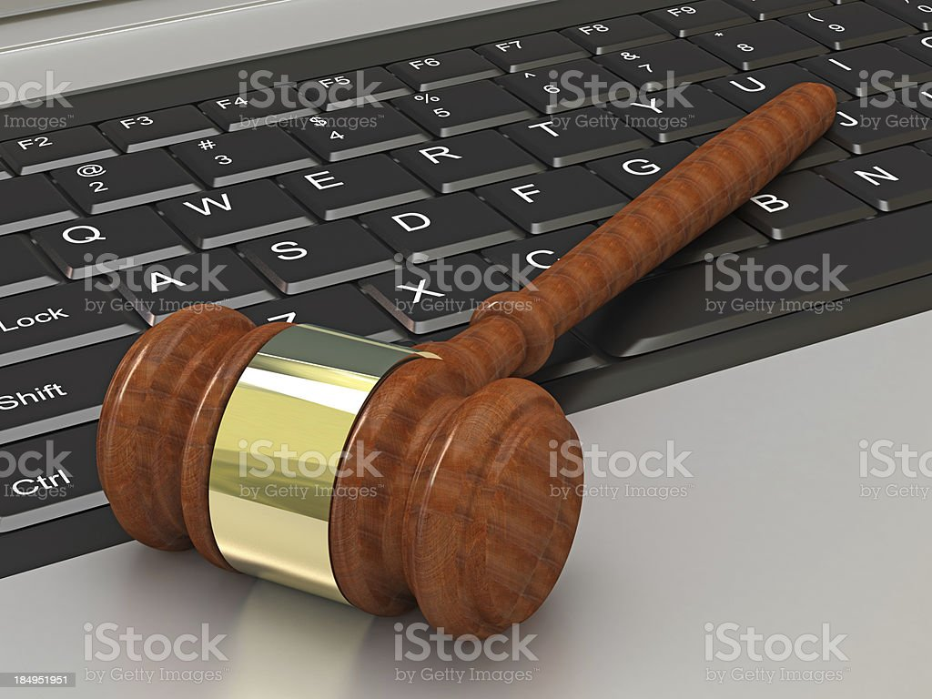 Online Judge royalty-free stock photo