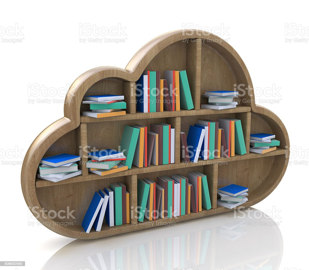 Online library concept stock photo