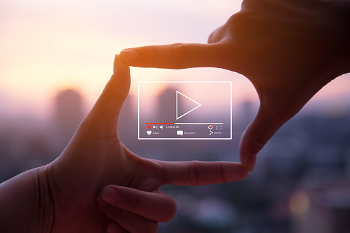 Online live video marketing concept