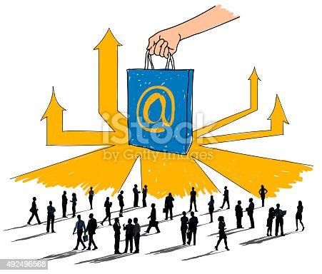 862201618 istock photo Online Marketing  Branding Commerce Advertising Concept 492496568