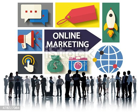 862201618 istock photo Online Marketing Branding Global Communication Analysing Concept 478227064