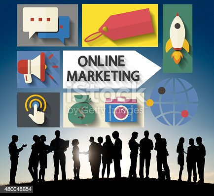 862201618 istock photo Online Marketing Branding Global Communication Analysing Concept 480048654