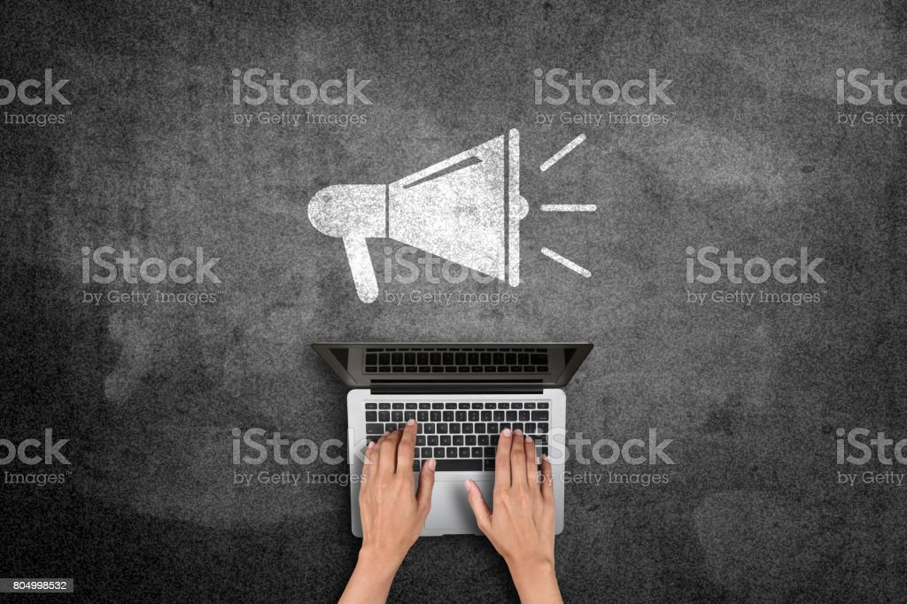 Online marketing concept stock photo