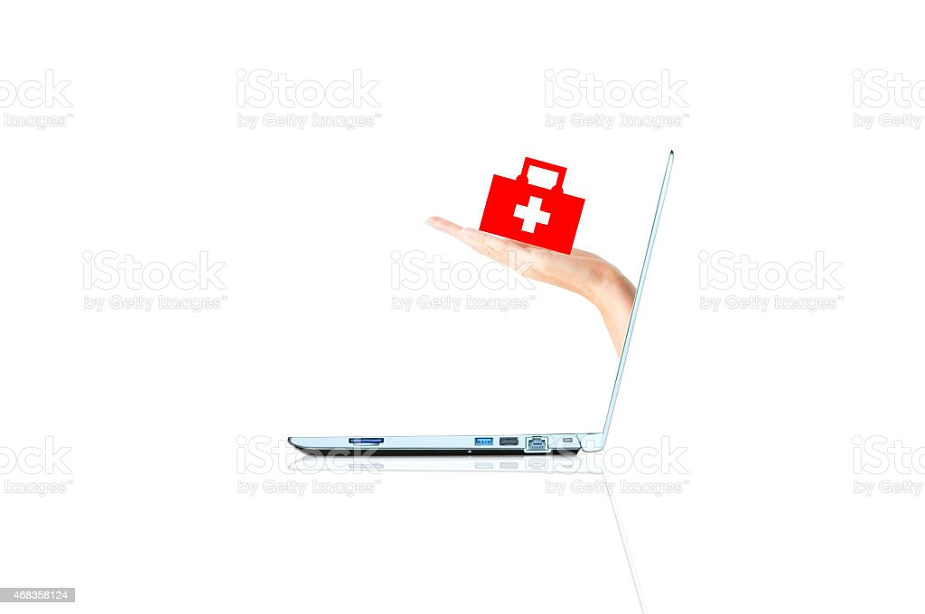 Online medical services concept royalty-free stock photo