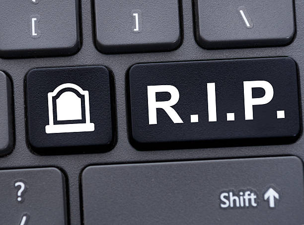 Online memorial concept with R.I.P. abbreviation – Foto