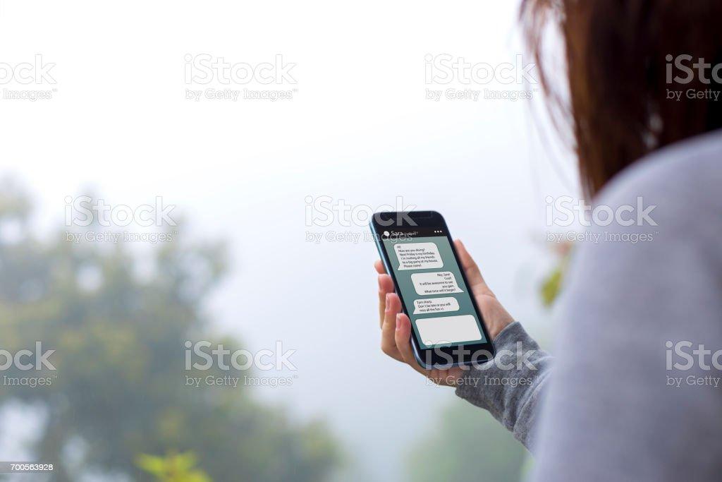 Online messaging stock photo