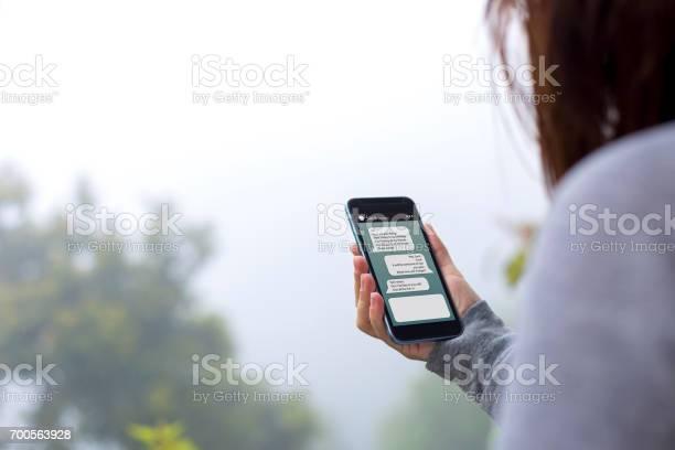 Onlinemessaging Stockfoto und mehr Bilder von Gerätebildschirm