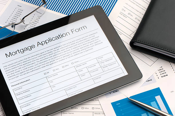 online mortgage application form - apply online stock photos and pictures