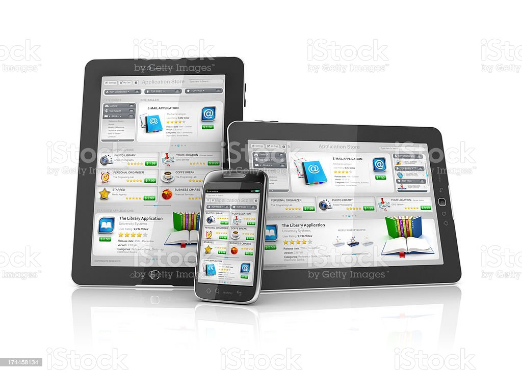 online multi platform Application Store stock photo