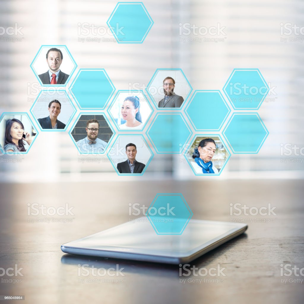 Online network royalty-free stock photo