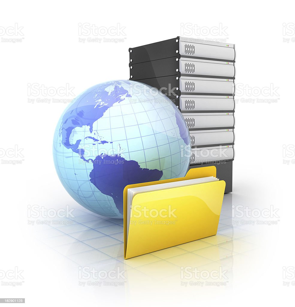 online network servers royalty-free stock photo
