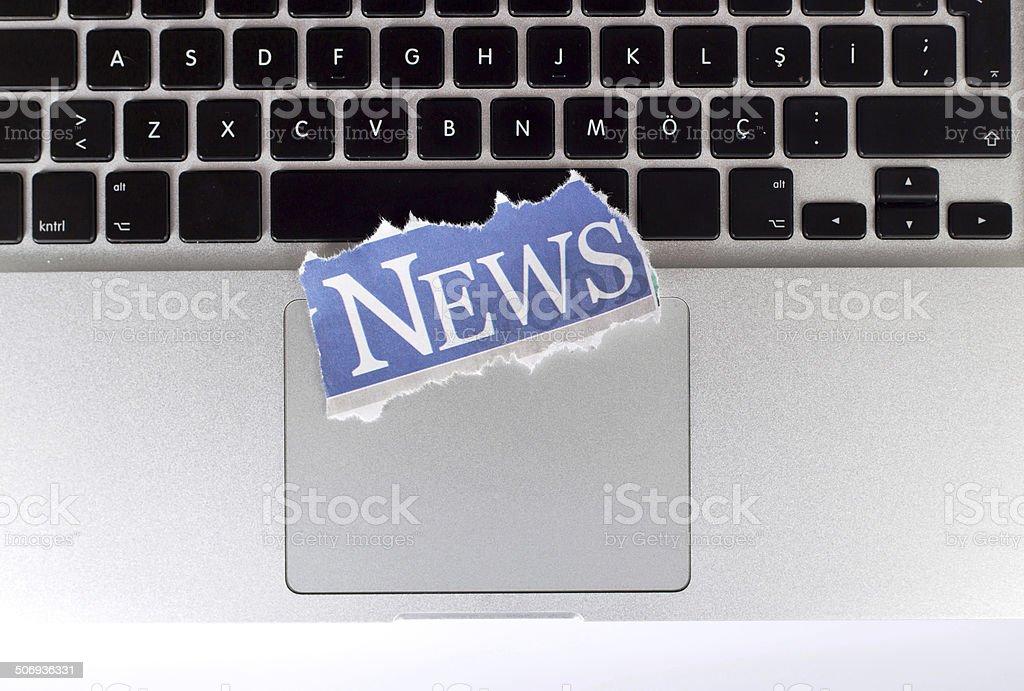 Online News Concept stock photo