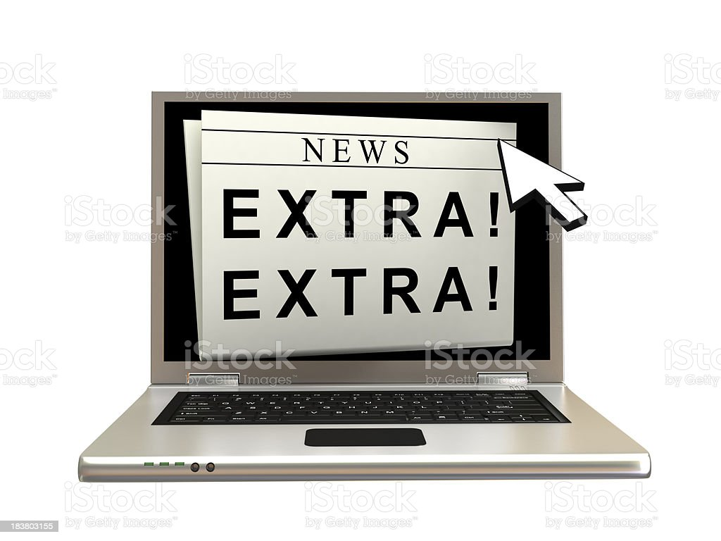 Online News royalty-free stock photo