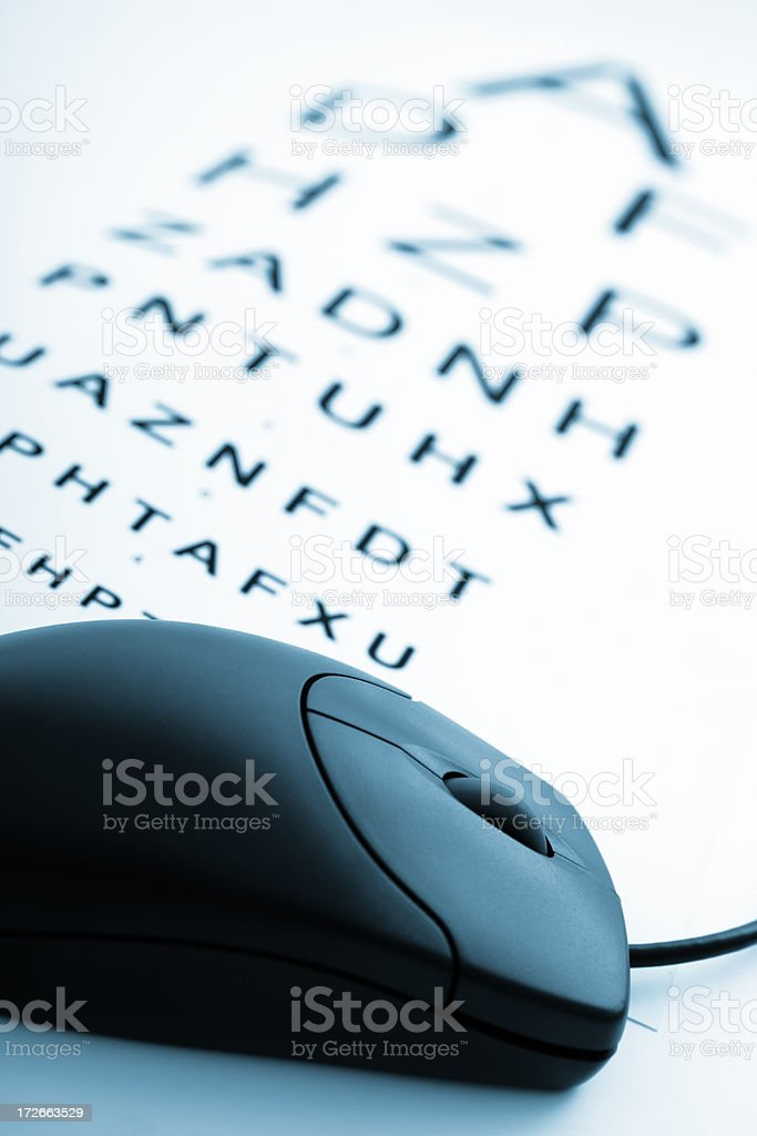 Online Optician royalty-free stock photo