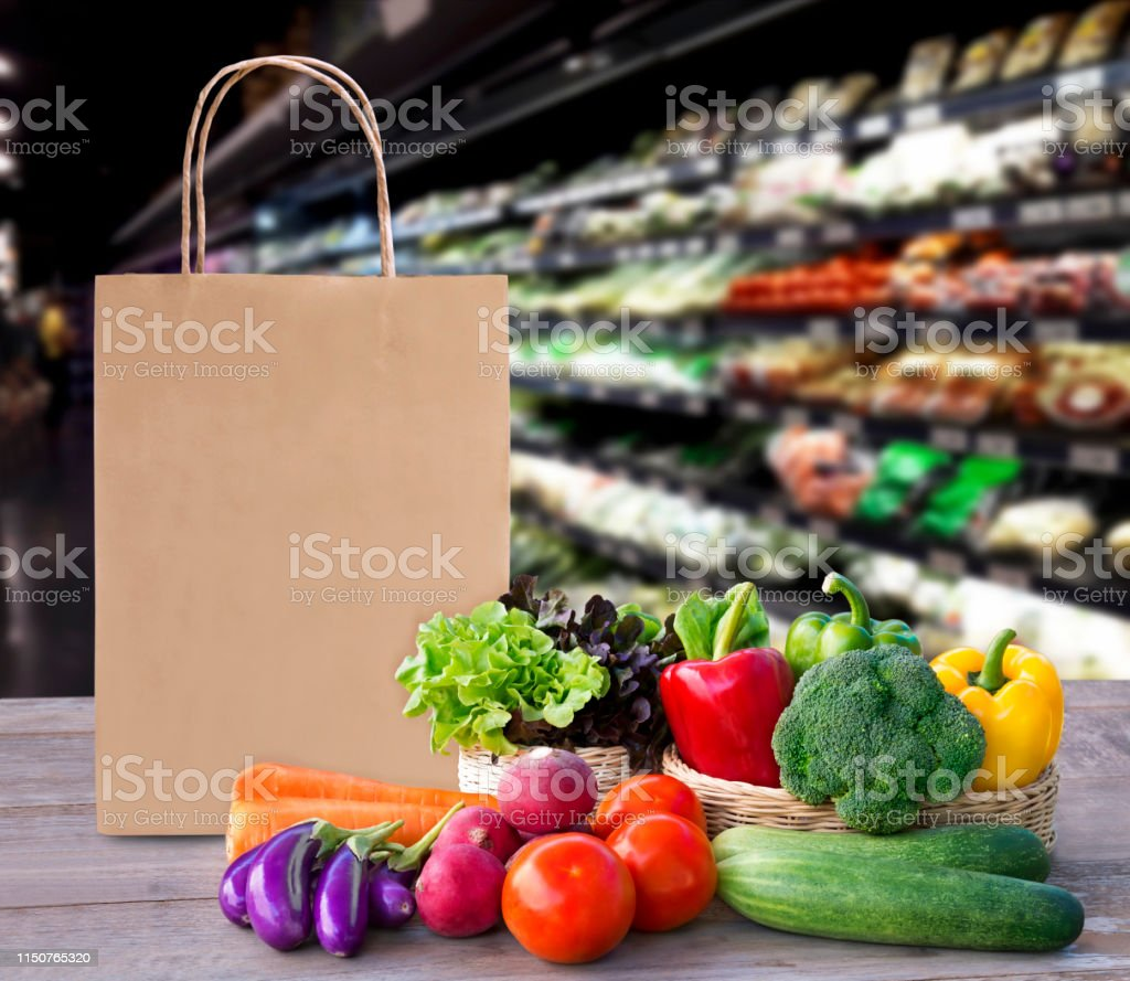 Online Order Grocery Shopping Concept Food Delivery