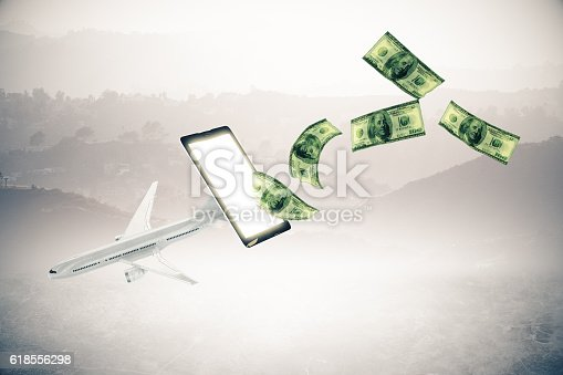 istock Online payment for plane tickets 618556298