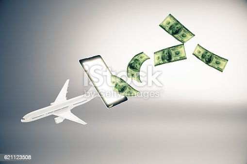 istock Online payment for plane tickets 621123508