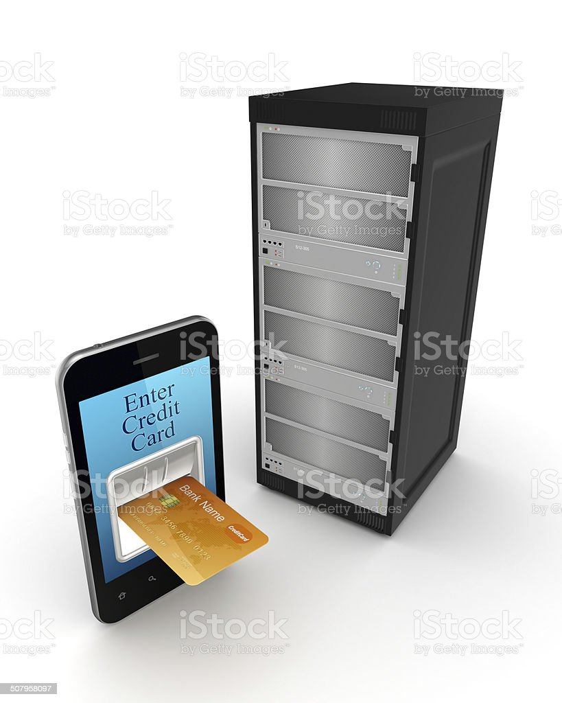 Online payments concept. stock photo