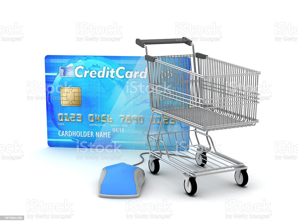 Online payments - e-shopping concept illustration royalty-free stock photo
