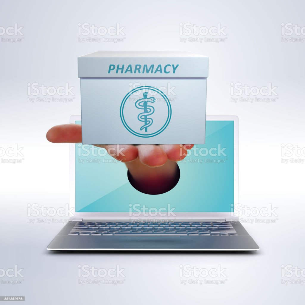online pharmacy stock photo