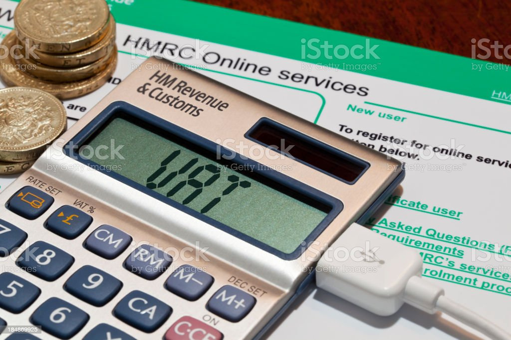 UK VAT Online royalty-free stock photo