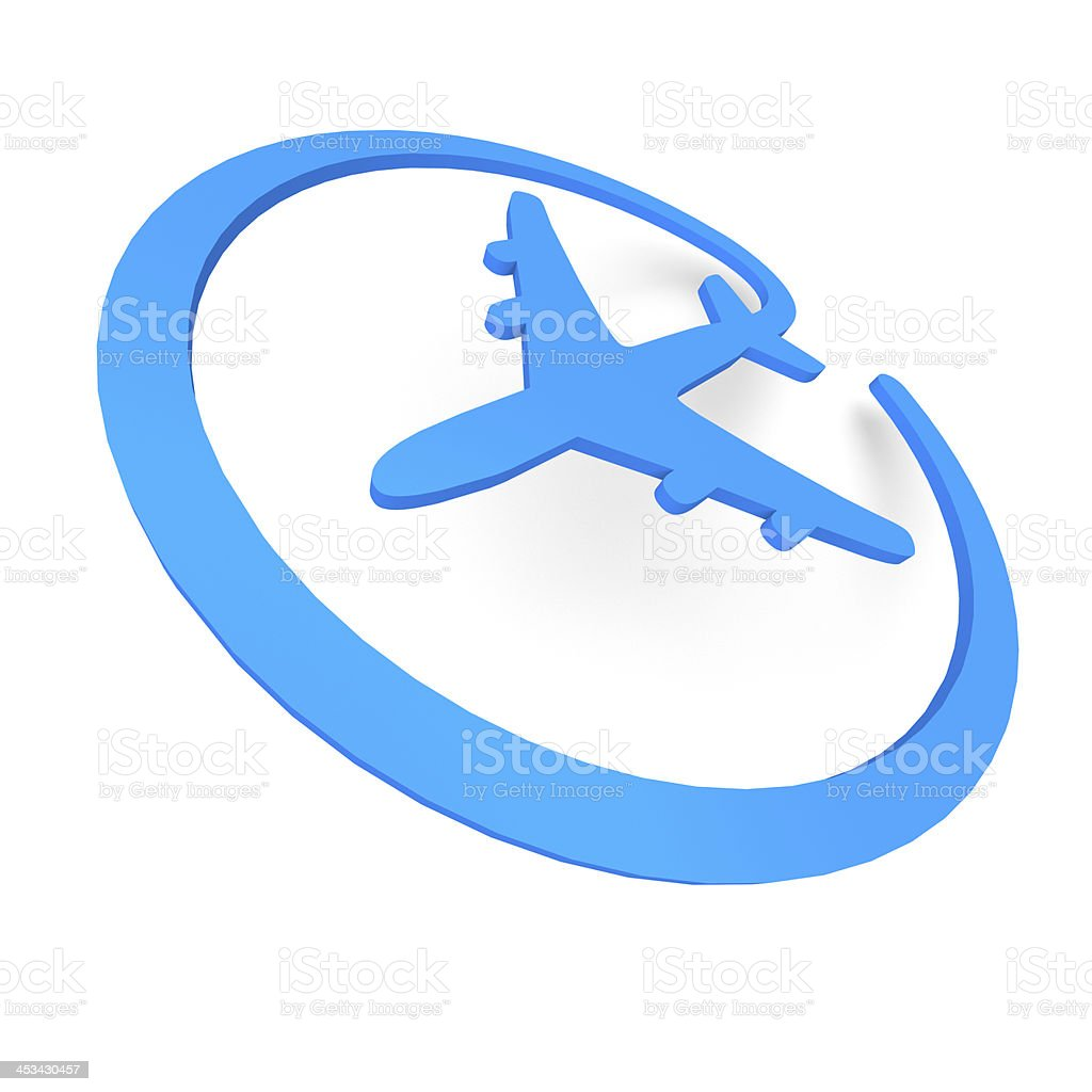 Online plane stock photo