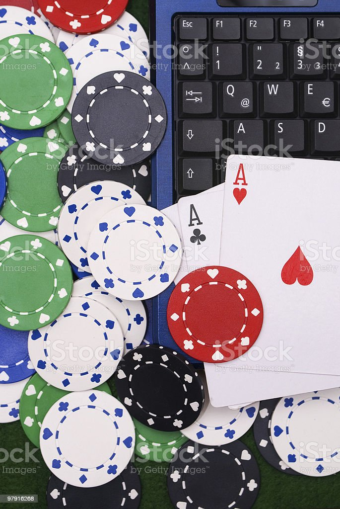 Online Poker Concept royalty-free stock photo