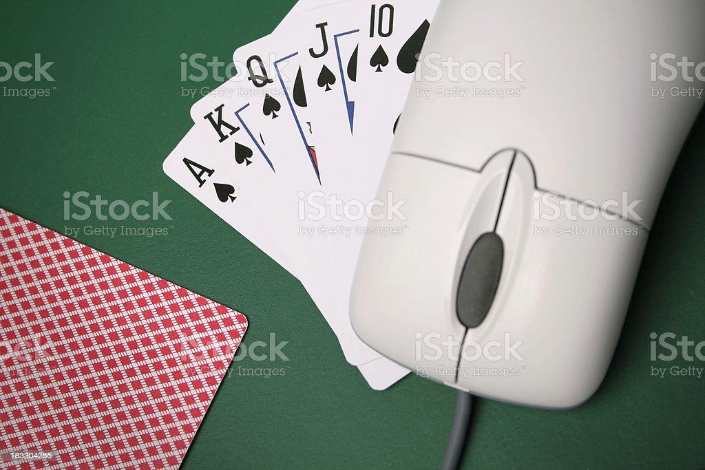 Online poker night royalty-free stock photo